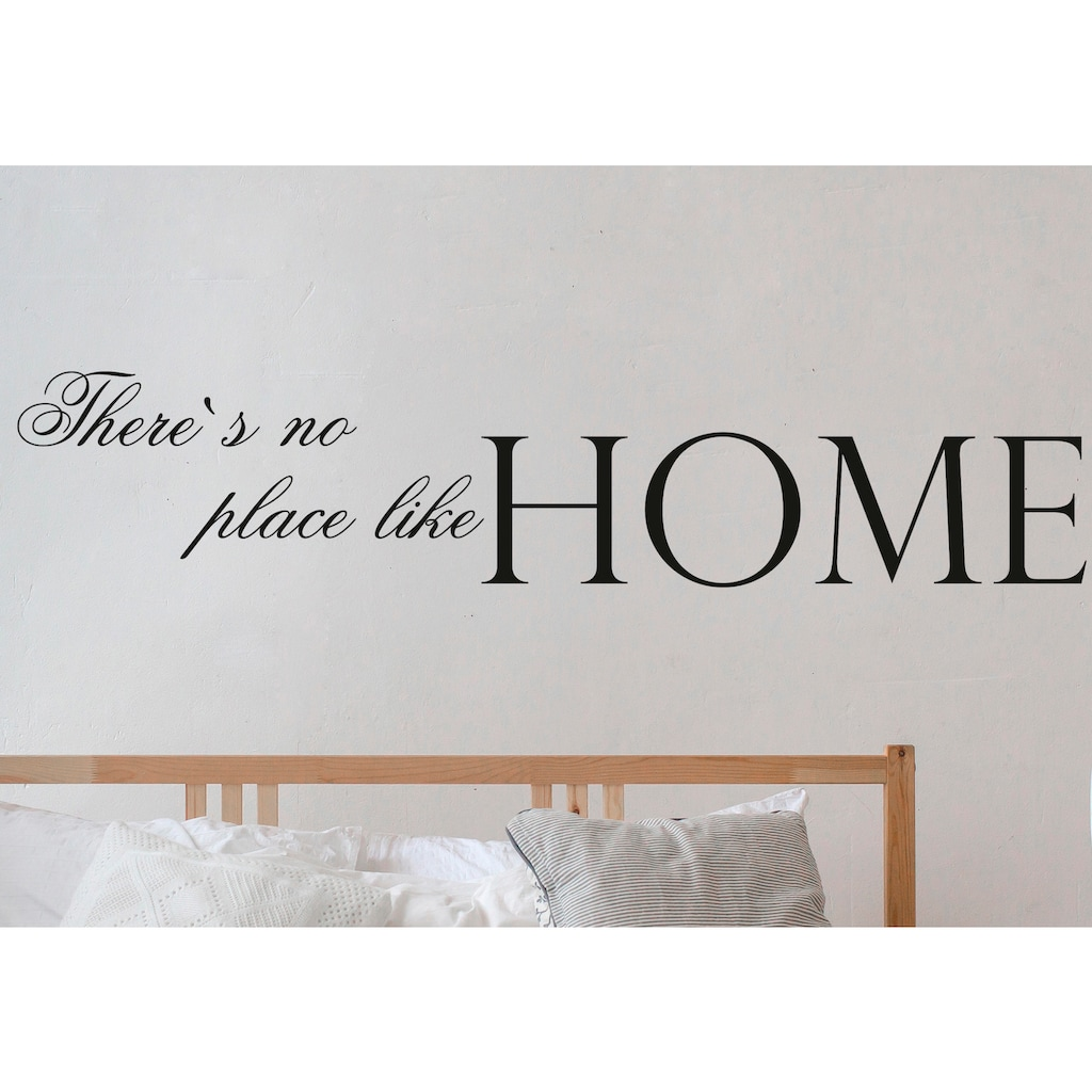 QUEENCE Wandtattoo »There's no place like Home«, dunkelgrau, 120 x 25 cm