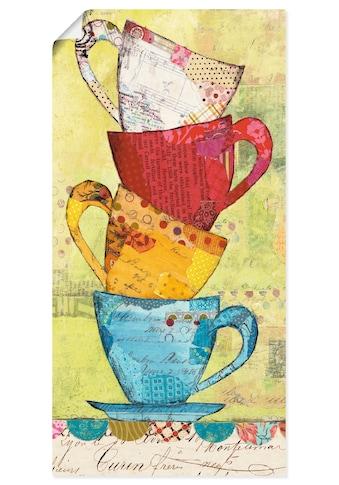 Artland Wandbild »Komm zum Kaffee«, Geschirr & Besteck, (1 St.), in vielen Größen &... kaufen