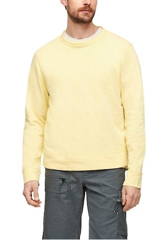 s.Oliver Sweatshirt, mit kleinem Markenlabel kaufen