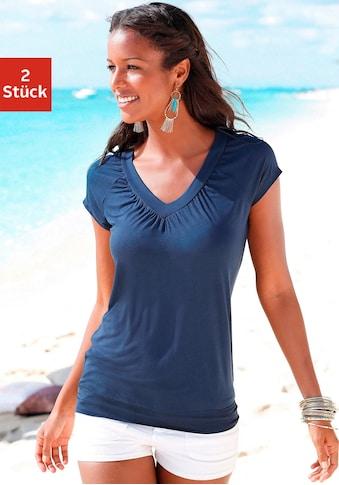 LASCANA T-Shirt, mit breitem Bund kaufen