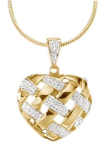 Firetti Herzanhänger »zweifarbig«, mit Diamanten kaufen