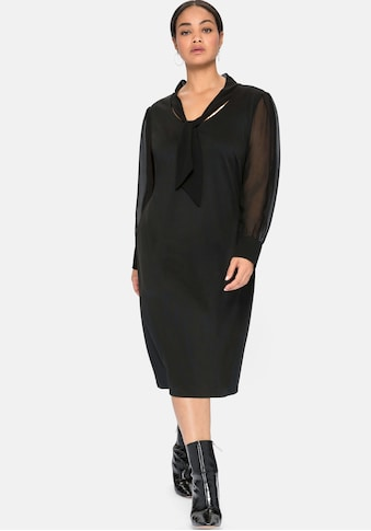 Sheego Jerseykleid, mit Schluppe und Chiffonärmeln kaufen
