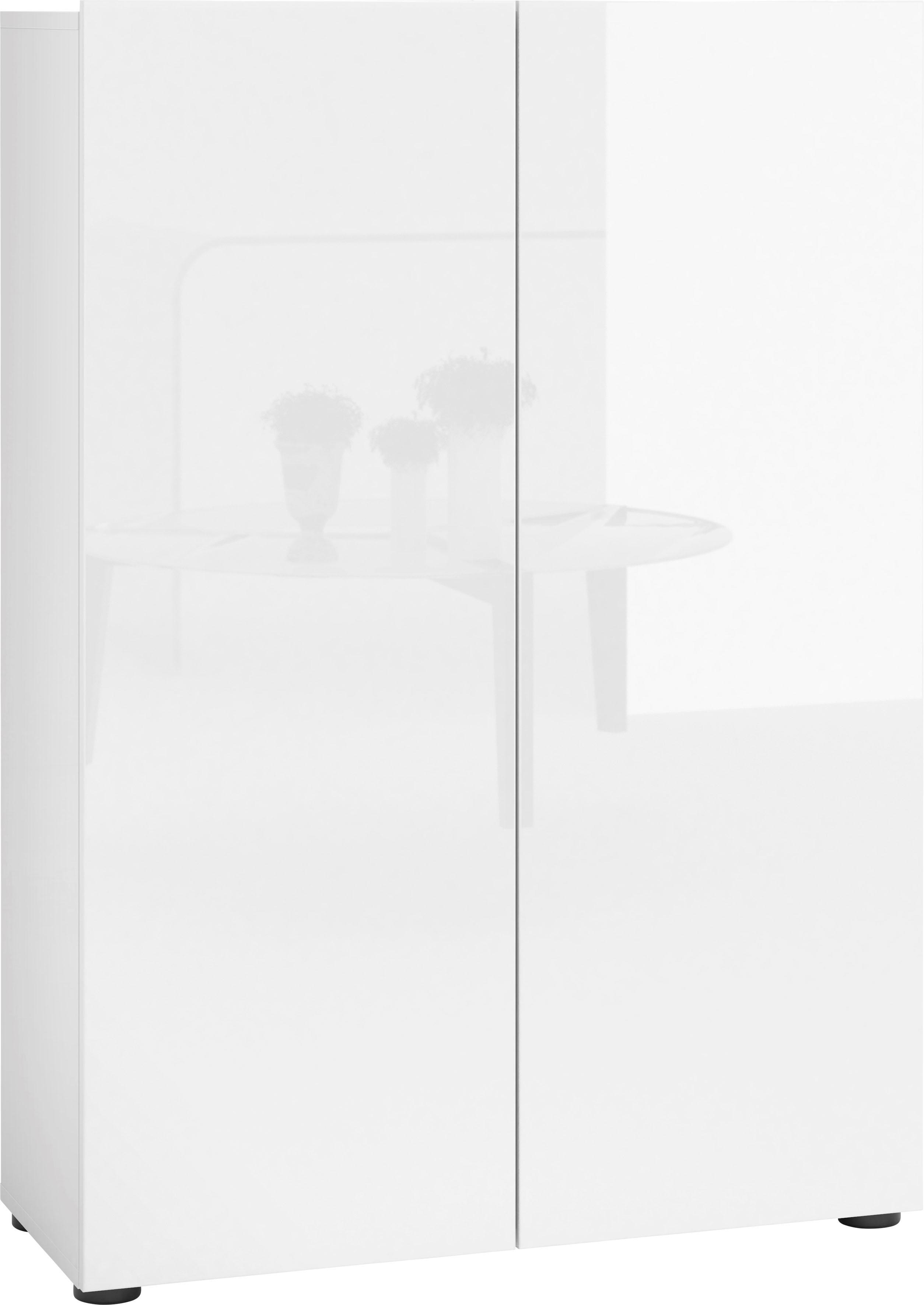 KITALY Schuhschrank »Mister«, Breite 80 cm, 2 Türen, Hochglanz Lackiert günstig online kaufen