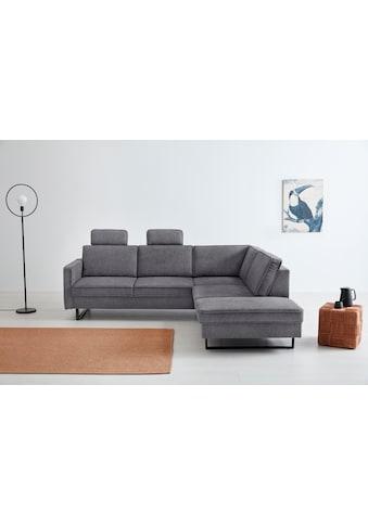 OTTO products Ecksofa »Renell«, Bezüge aus recyceltem Polyester, Metallkufen kaufen