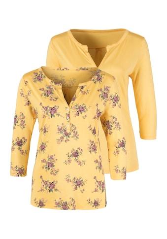 LASCANA 3/4-Arm-Shirt, in modischer Blusenoptik kaufen