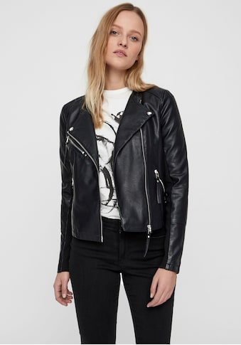 Vero Moda Lederimitatjacke »VMRIA«, mit Bikerdetails kaufen