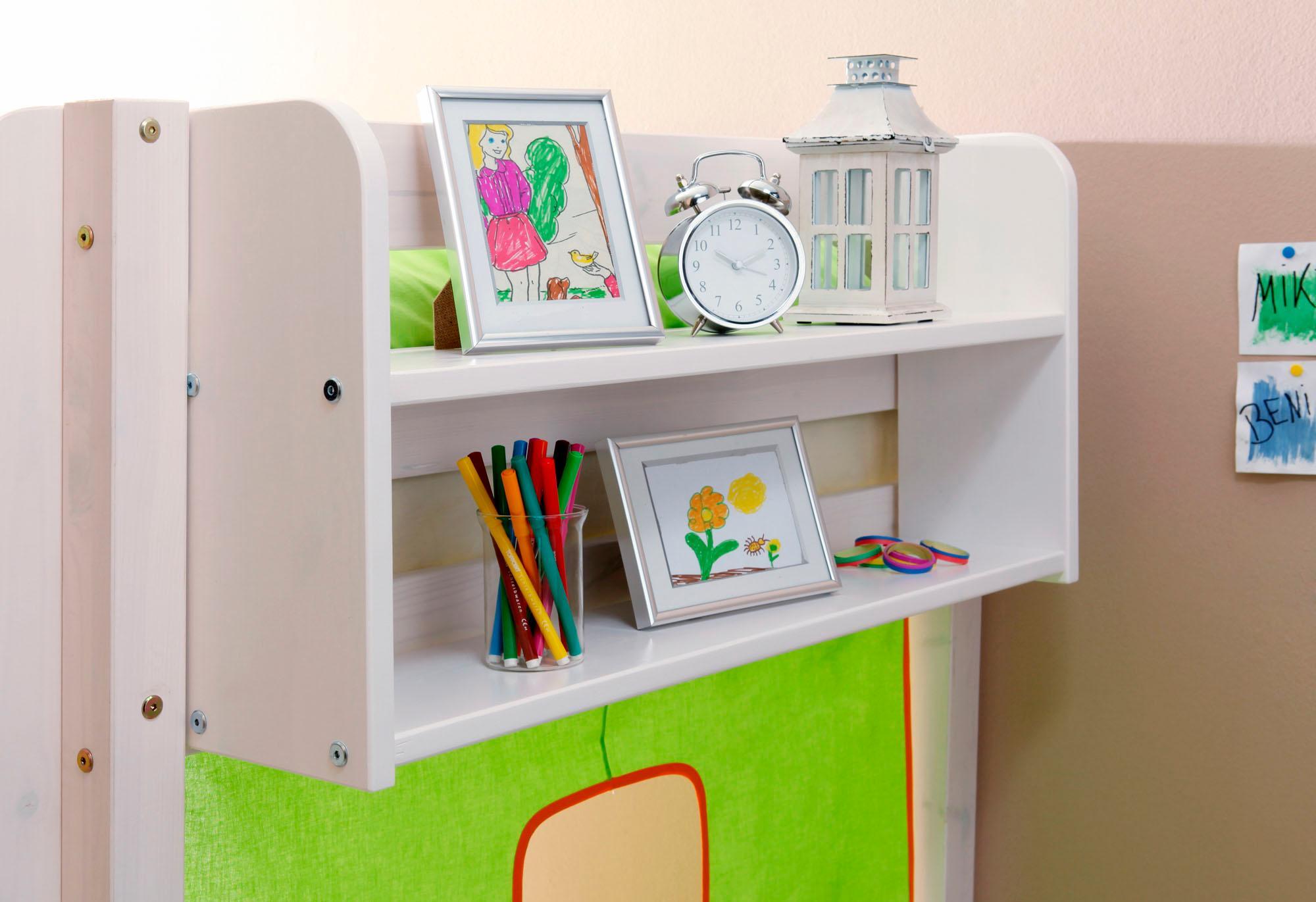 Ticaa Einhängeregal in verschiedenen Breiten, Kiefer | Kinderzimmer > Kinderzimmerregale | Weiß | Metall - Kiefer | TICAA