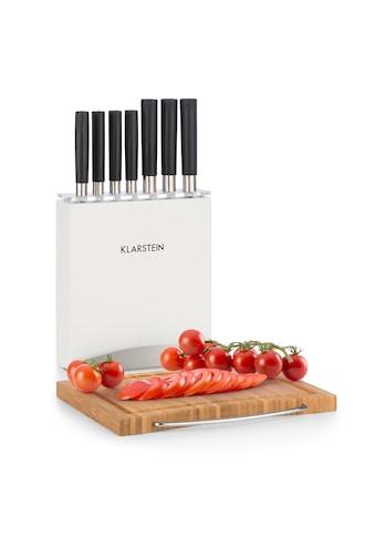 Klarstein Messer - Set 9 tlg. Holzblock Bambus - Schneidebrett »Kitano Plus« kaufen