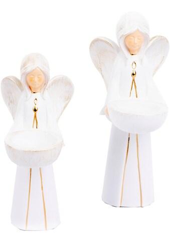 VALENTINO Wohnideen Teelichthalter »Engel Nora« (Set, 2 Stück) kaufen