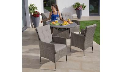 KONIFERA Gartenmöbelset »Mailand«, (13 tlg.), 4 Sessel, Tisch Ø 100 cm, Polyrattan kaufen