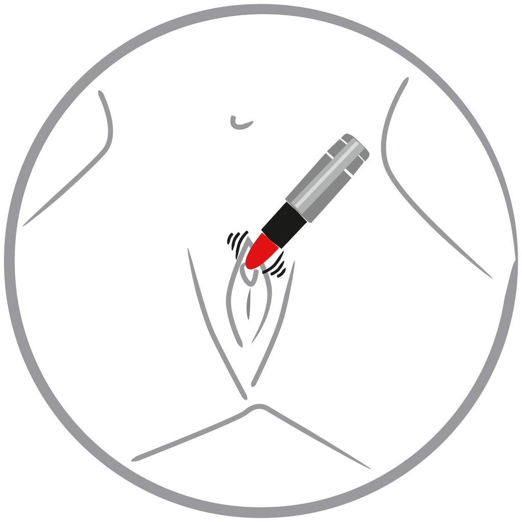 You2Toys Mini-Vibrator »Kiss me Lipstick Vibe«, Form eines Lippenstiftes
