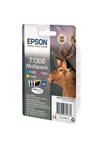 Epson »T1306 Original Kombi - Pack Cyan, Magenta, Gelb C13T13064012« Tintenpatrone kaufen
