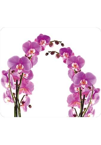 "WENKO Herd - Abdeckplatte ""Orchideenblüte"", Glas Silikon kaufen"