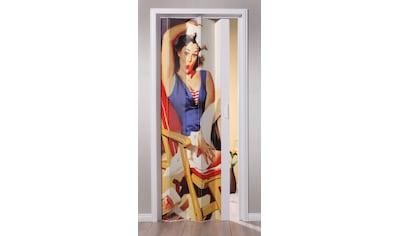 Falttür »St. Tropez«, BxH: 88,5x202 cm, Weiß mit Motivdruck kaufen