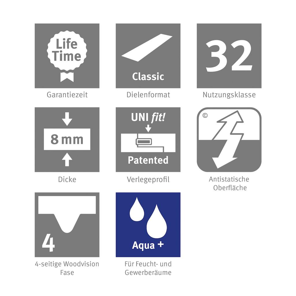EGGER Laminat »HOME Aqua+ Perganti Nussbaum braun«, wasserbeständig, 1,994 m²/Pkt., Stärke: 8 mm