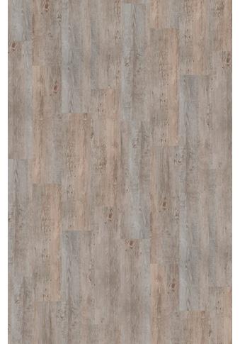 INFLOOR Teppichfliese »Velour Holzoptik Vintage grau«, selbsthaftend 25 x 100 cm kaufen