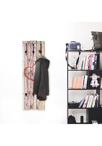 Artland Garderobenpaneel »Vintage Hintergrund Holzwand mit Herz« kaufen