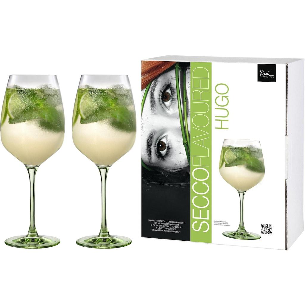 Eisch Weinglas »Secco Flavoured«, (Set, 2 tlg.), (Hugo-Glas), bleifrei, 640 ml, 2-teilig