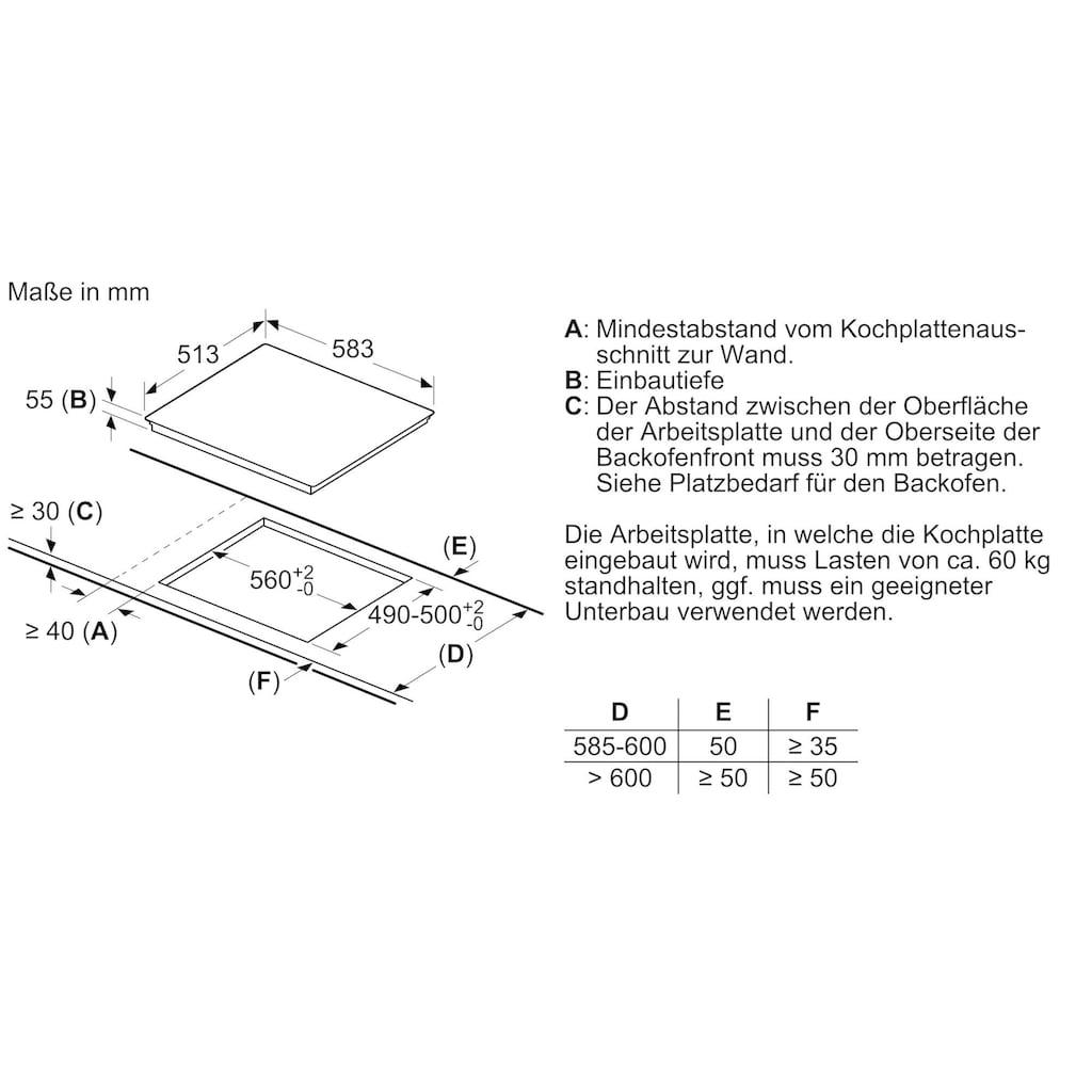 BOSCH Induktions Herd-Set »HEA578BS1«, HEA578BS1, Pyrolyse-Selbstreinigung