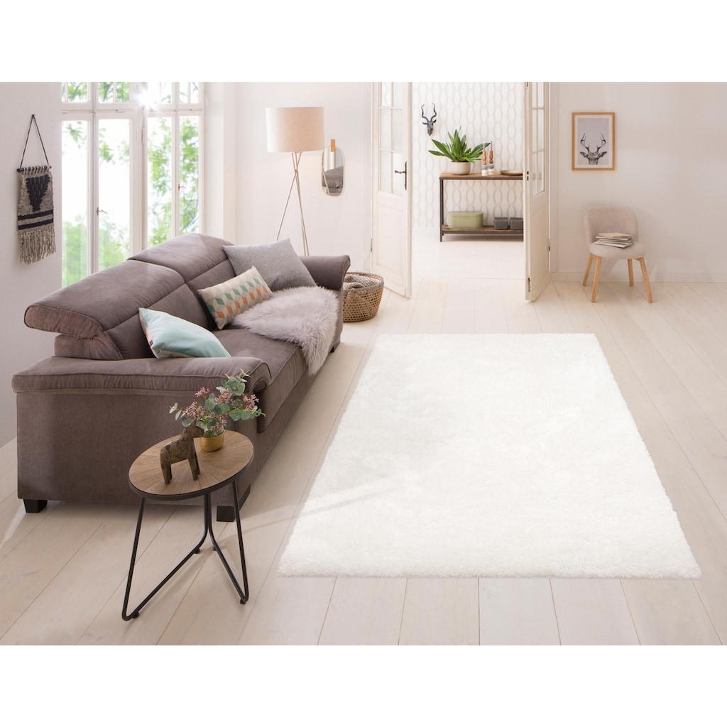 Home affaire Hochflor-Teppich »Malin«, rechteckig, 43 mm Höhe, Besonder weich durch Microfaser