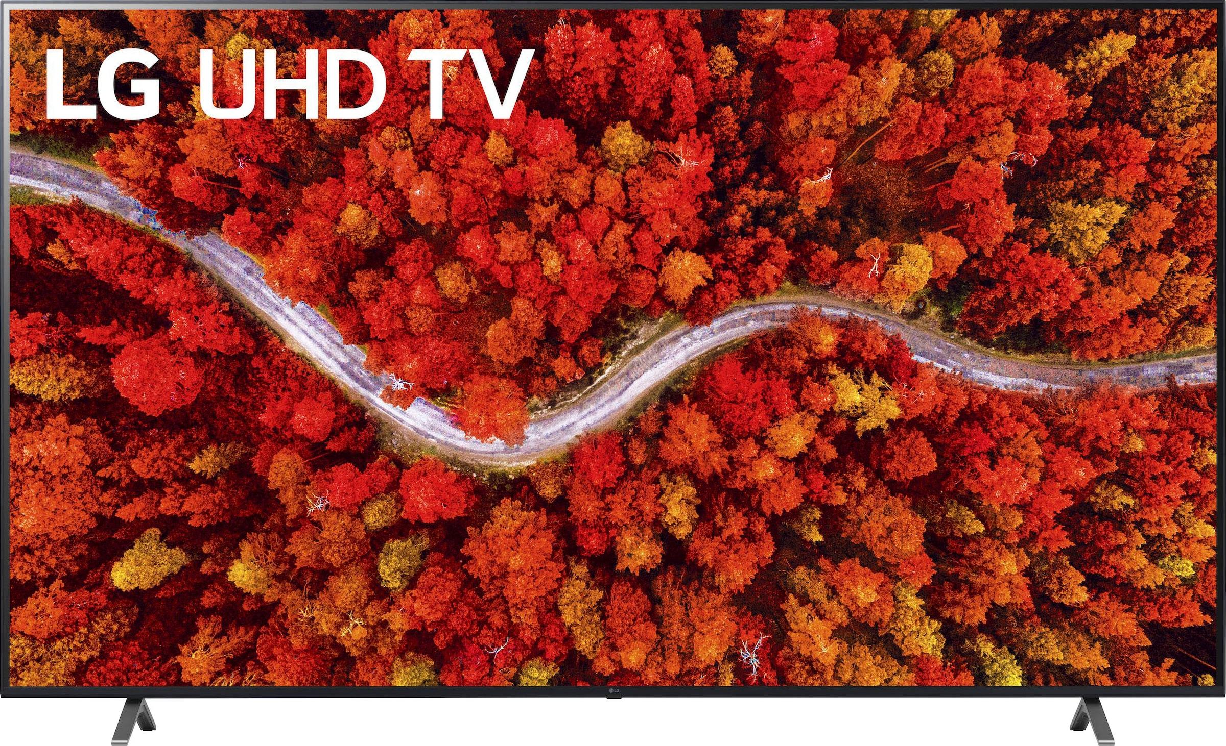 LG LCD-LED Fernseher 86UP80009LA , 217 cm 86 , 4K Ultra HD, Smart-TV, bis zu 120Hz -LG Local Contrast-α7 Gen4 4K AI-Prozessor-Sprachassistenten-Dolby Vision IQ-Dolby Atmos