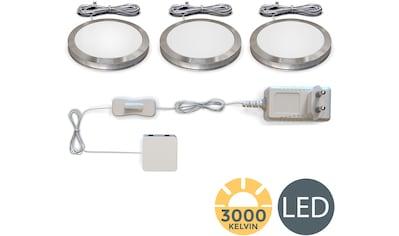 B.K.Licht LED Unterbauleuchte, LED-Board, 3 St., Warmweiß, LED Schranklicht Küche SET inkl. LED Modul 2W 170lm 3000K Schrankleuchte Küchenlampen kaufen