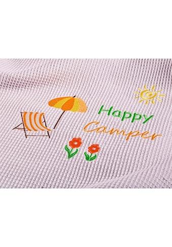 Kneer Wohndecke »Happy Camper«, aus Waffelpiqué mit Stickerei, auch als Tagesdecke... kaufen