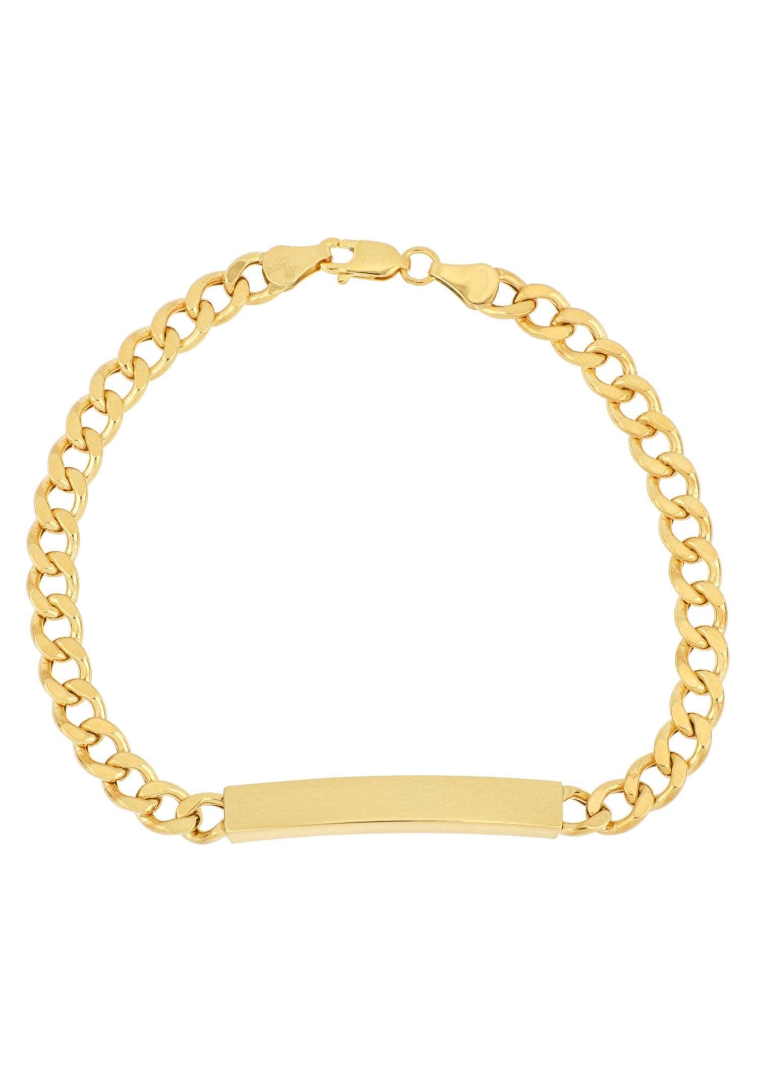 Firetti ID Armband »Gravurplatte, 2-fach diamantiert, poliert, mit Gratisgravur« | Schmuck > Armbänder > Armbänder mit Gravur | Goldfarben | Massiv | FIRETTI