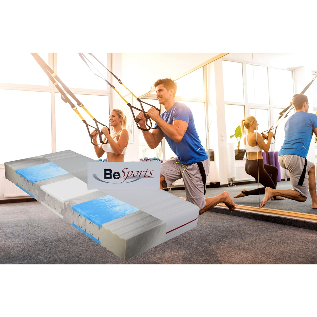 BeSports Komfortschaummatratze »HS Plus 2200«, 22 cm cm hoch, Raumgewicht: 35 kg/m³, (1 St.), Top für Rücken, Muskulatur und ihre Fitness