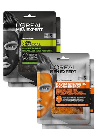 L'ORÉAL PARIS MEN EXPERT Gesichtsmasken-Set »Pure Charcoal und Hydra Energy«, (Set, 4... kaufen
