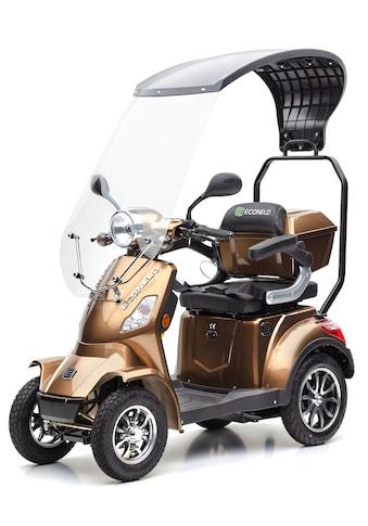 ECONELO Elektromobil »JD 4000 braun«, 1000 W, 25 km/h, (mit Topcase) kaufen