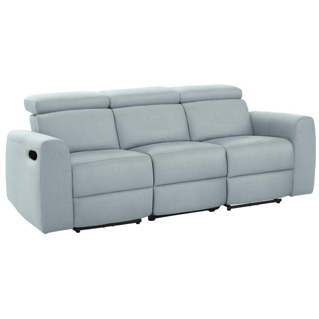 Home affaire 3-Sitzer »Sentrano«, wählbar zwischen manueller oder elektrischer Relaxfunktion mit USB-Anschluß, auch in NaturLEDER