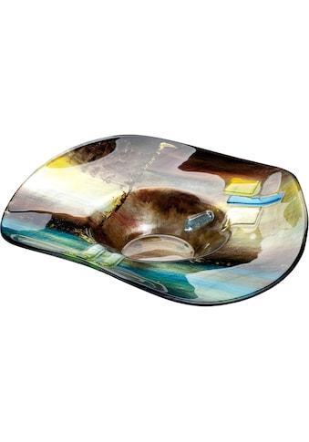 GILDE GLAS art Dekoschale »Campo«, aus Glas, Höhe ca. 13 cm kaufen