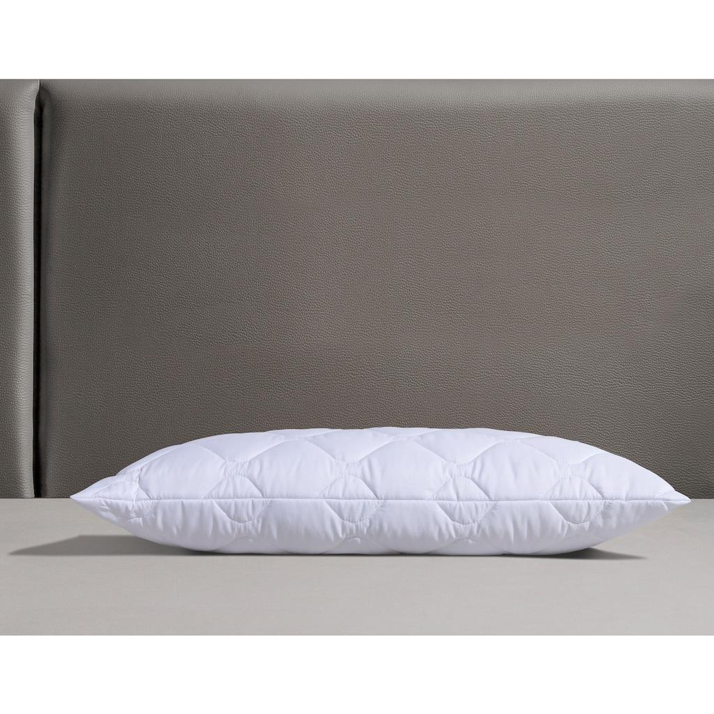 fan Schlafkomfort Exklusiv Kunstfaserkopfkissen »Sanamed 95«, Füllung: 100% Polyester, Bezug: 100% Polyester, (1 St.), kochfest und langlebig