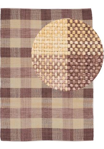 carpetfine Teppich »Kelim Ella«, rechteckig, 5 mm Höhe, reine Baumwolle, Wendeteppich,... kaufen