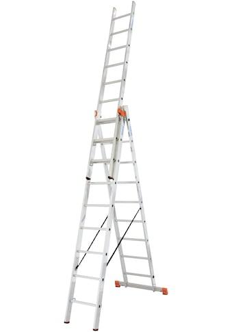 KRAUSE Vielzweckleiter »Tribilo«, mit Leiternspitzen, 3x9 Sprossen kaufen