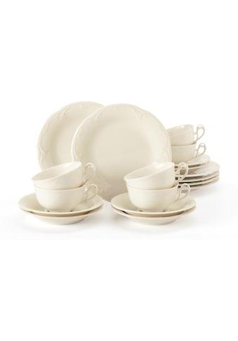 Seltmann Weiden Teeservice »Teeservice Rubin«, (Set, 18 tlg., 6 Teetassen 0,14 l, 6... kaufen