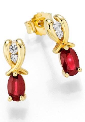 Firetti Paar Ohrstecker »Oberfläche glänzend, schimmernde Edelsteine« kaufen