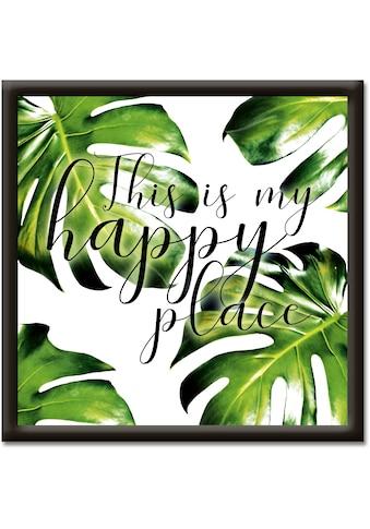 Artland Wandbild »Dies ist mein Platz zum glücklich sein« kaufen
