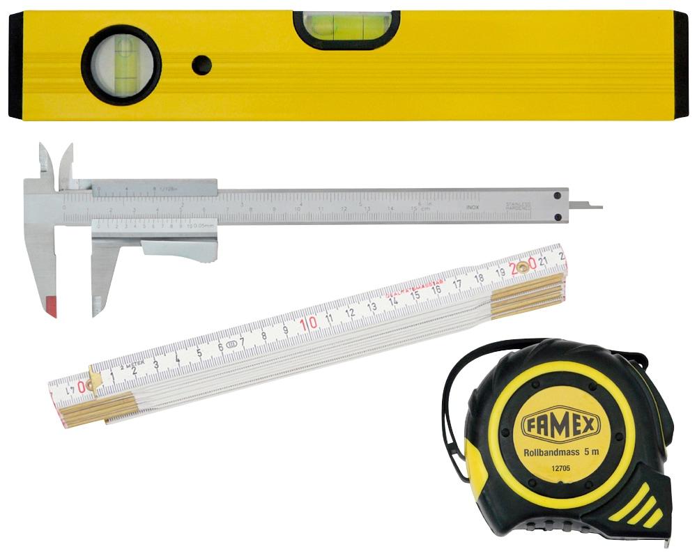 FAMEX Werkzeugsatz »Messwerkzeuge«, Set 4-tgl.   Baumarkt > Werkzeug > Werkzeug-Sets   FAMEX