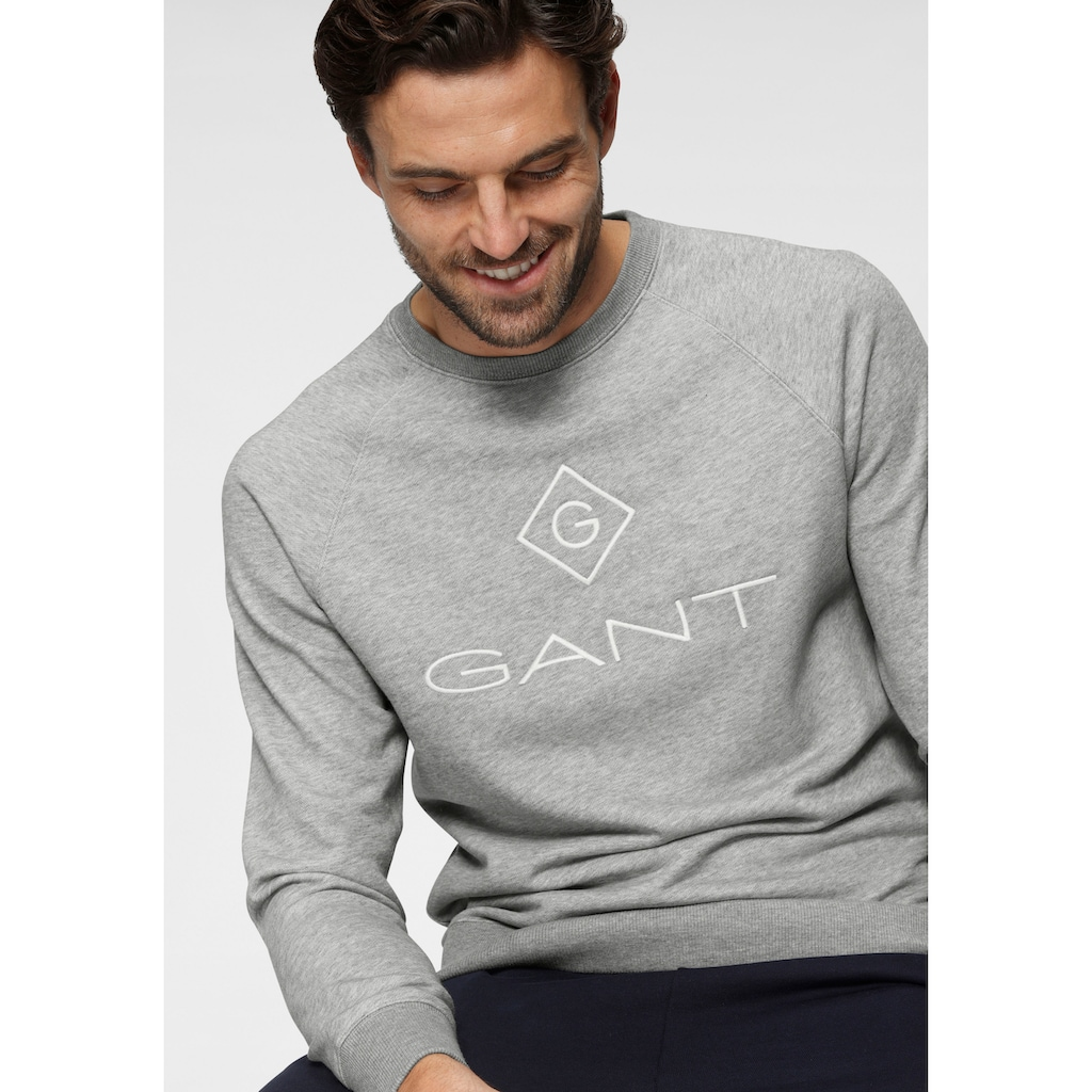 Gant Sweatshirt »LOCK UP C-NECK SWEAT«, Bündchenabschlüsse