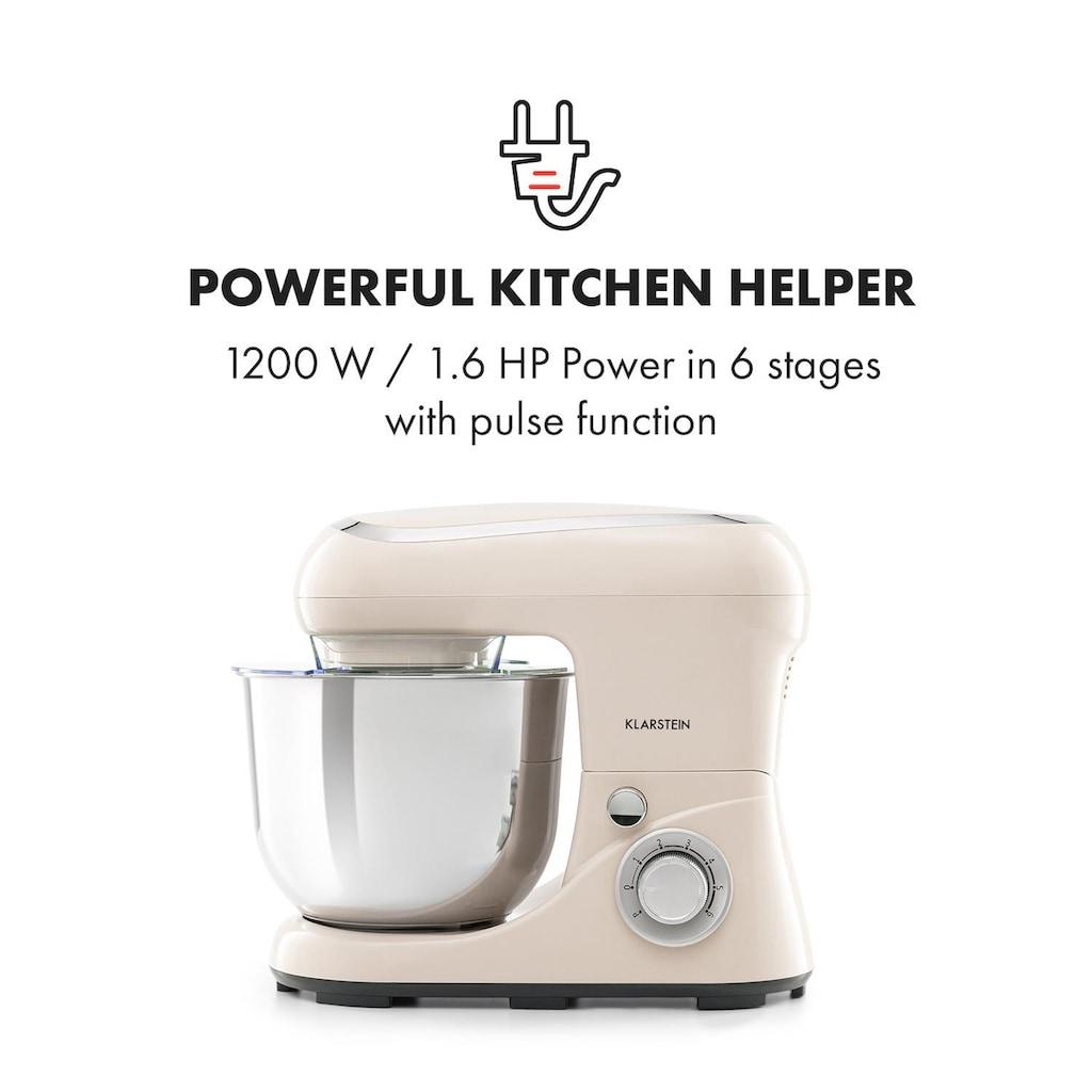 Klarstein Küchenmaschine 1200W 1,6PS 6 Stufen 5 Liter
