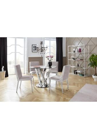 Leonique Esstisch »Micado«, mit strebenförmigem Chromgestell kaufen