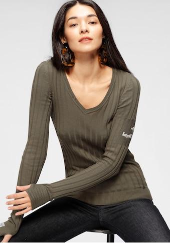 KangaROOS V-Ausschnitt-Pullover, in breit geripptem Feinstrick kaufen