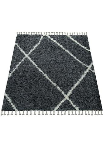 Paco Home Hochflor-Teppich »Helsinki 531«, rechteckig, 45 mm Höhe, Hochflor-Shaggy,... kaufen