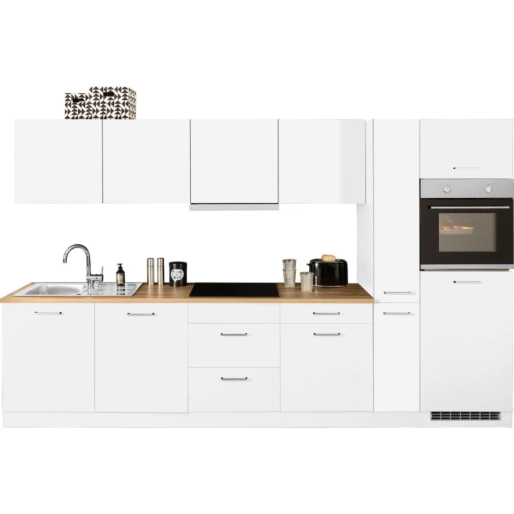 HELD MÖBEL Küchenzeile »Kehl«, mit E-Geräten, Breite 330 cm, wahlweise mit Induktionskochfeld