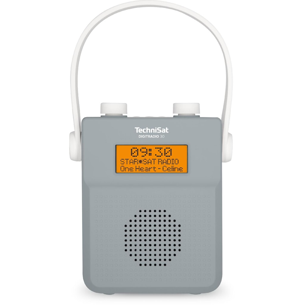 TechniSat DAB+ Digitalradio (Duschradio, Wasserdicht, Bluetooth, UKW, FM)