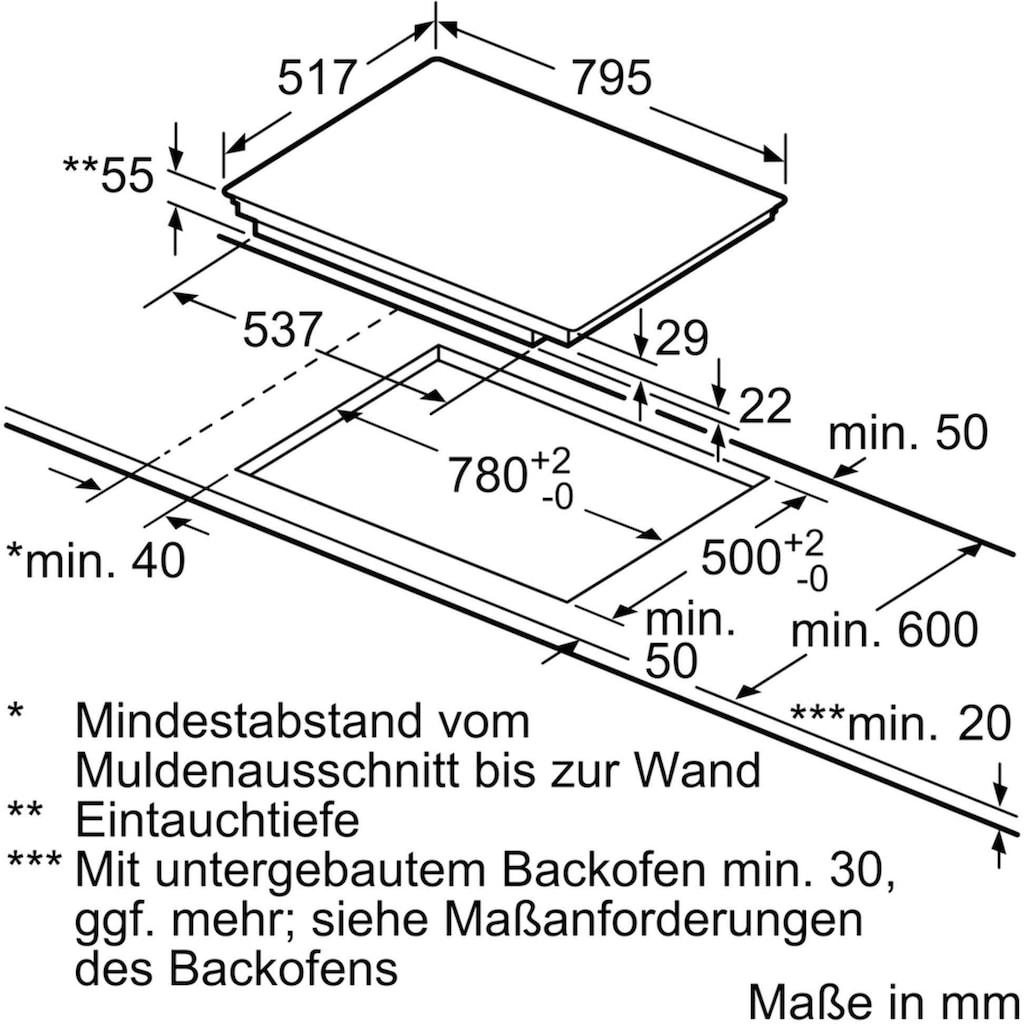 NEFF Flex-Induktions-Kochfeld »T68BT6QN2«, T68BT6QN2