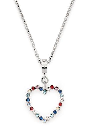 LEONARDO Herzkette »Anna, 018116«, mit bunten Glassteinen kaufen