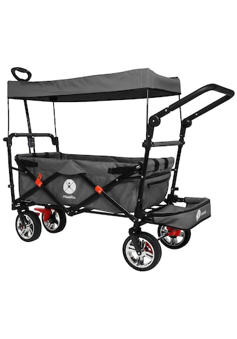 MIWEBA Bollerwagen »MB - 20«, 70 kg, mit Dach - , Zieh -  und Schiebestange kaufen